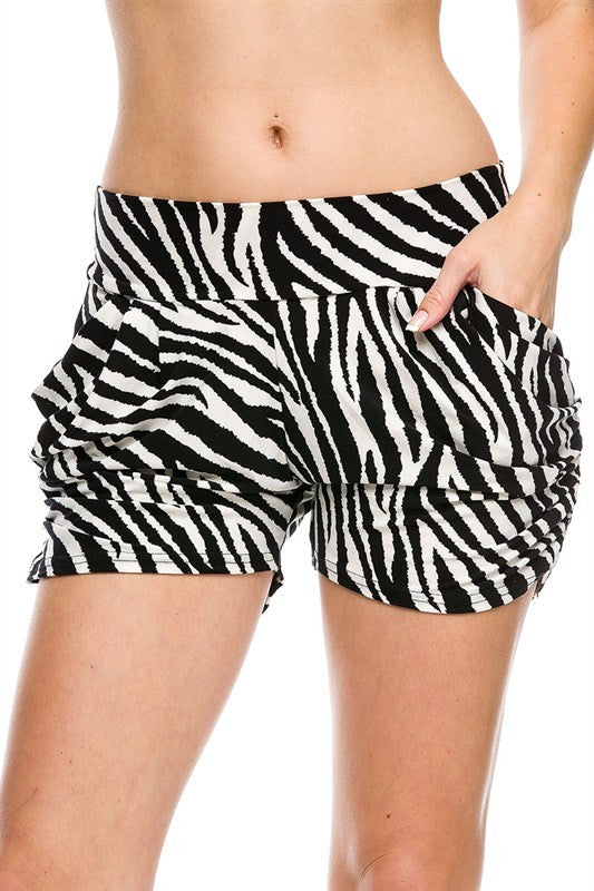 Show Your Wild Side Zebra Shorts