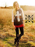 Amazing Grace Cross Baseball Top - Also in Plus Size