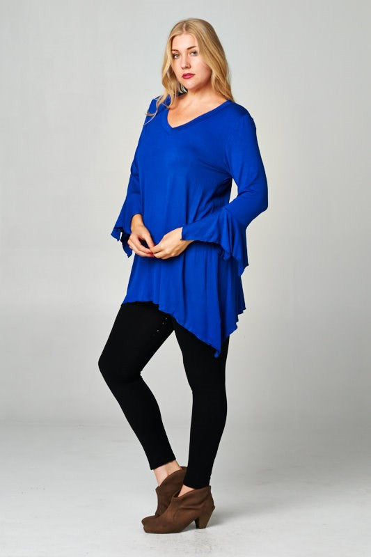 Twilight Harbor Tunic Top  Several Colors - Plus Size