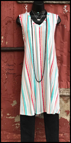 Flagstaff Stripe Tunic Dress  - Also in Plus Size