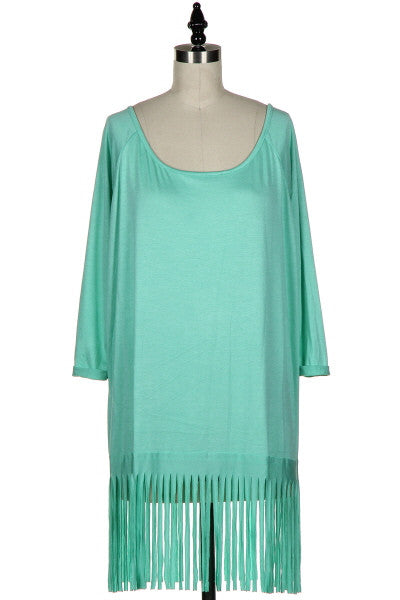 Flirty In Fringe Tunic Top - 2 color options
