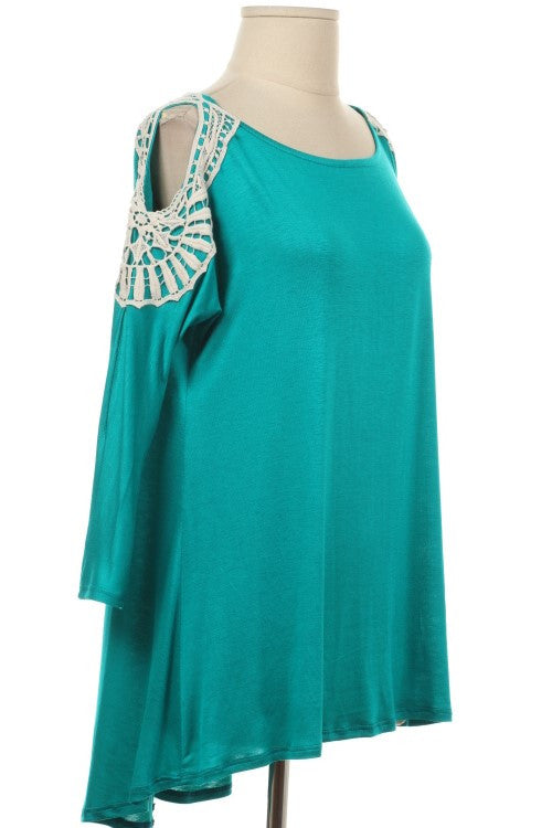 Hi Class In Excess Peep Shoulder Top - Several Colors