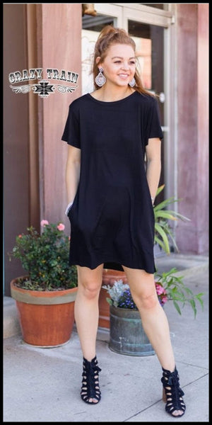 Throw Back Black Dress - Also in Plus Size