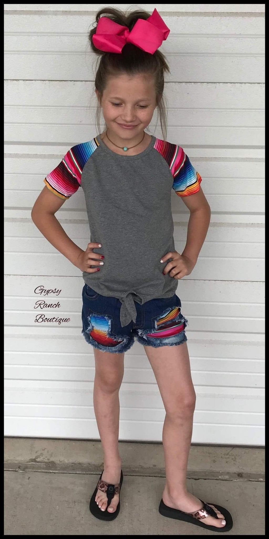 Oaklee Serape Top & Short Set - Kids