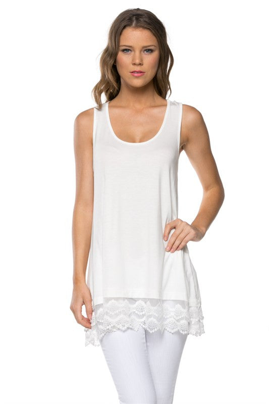 Dreaming In Lace Tank Top