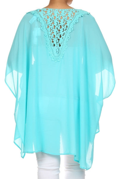 Traveling Stone Cardigan - Plus Size - Black or Turquoise