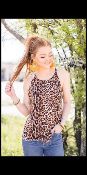 Honeywine Leopard Tie Tank Top - Also in Plus Size