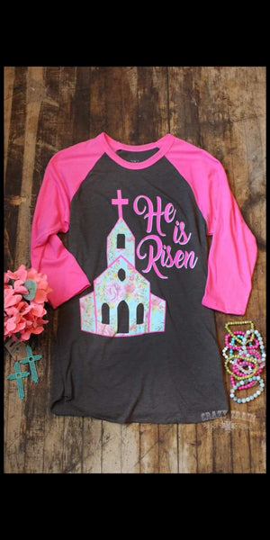 He is Risen Raglan Top - Also in Plus Size