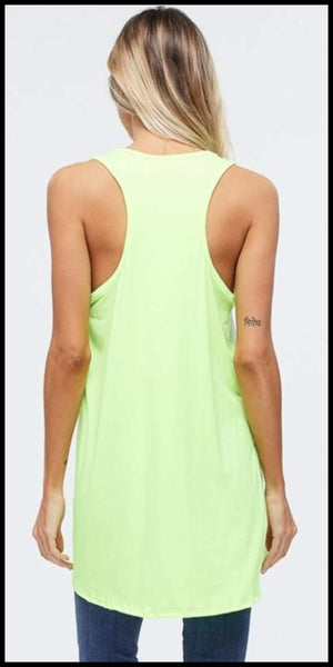 Lonesome Legacy Neon Tank Top