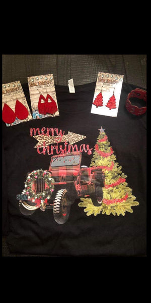 Jeep Merry Christmas Top - Also in Plus Size