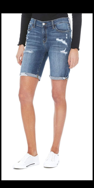 Clubhouse Distressed Bermuda Shorts - Also in Plus Size