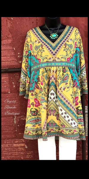 Grand Falls Paisley Tunic Top