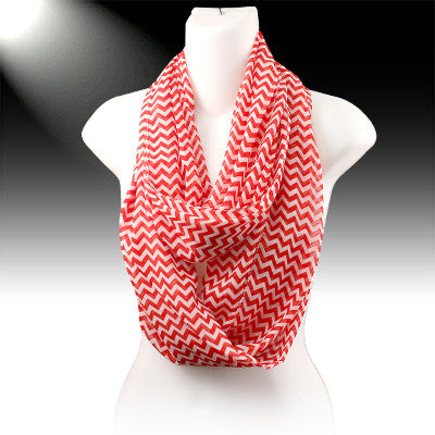 Kids or Womens Infinity Chevron Scarves - Several Colors