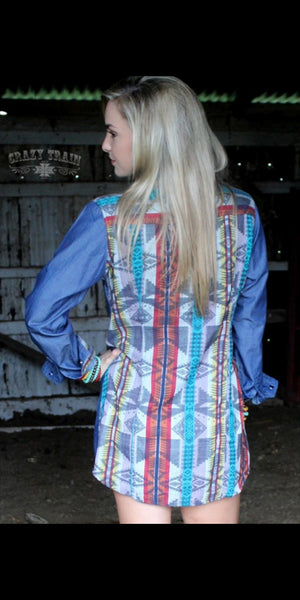 Ranchero Tribal Tunic Top - Also in Plus Size