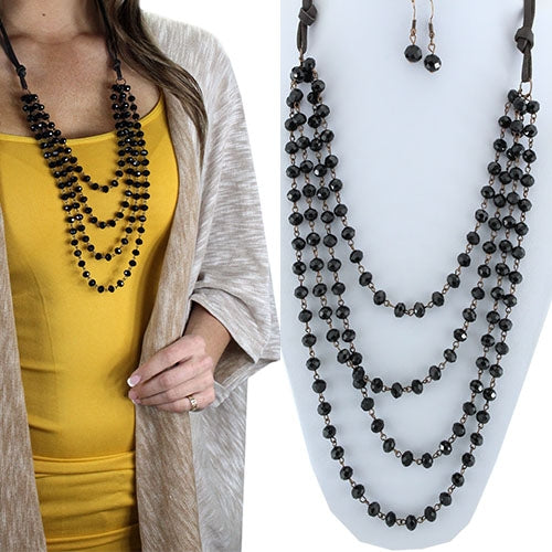 Lady in Black Layered Necklace