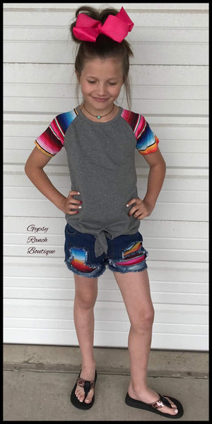 Zoie Jane Serape Shorts - Kids