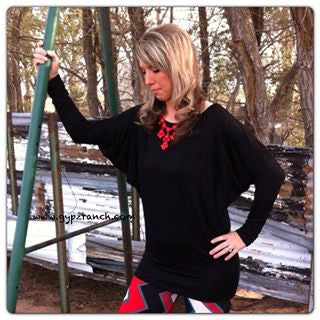 Las Cruces Dolman Sleeve Tunic - Several Colors
