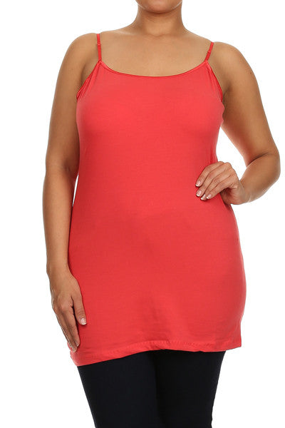 Solid Cami Top Plus Size