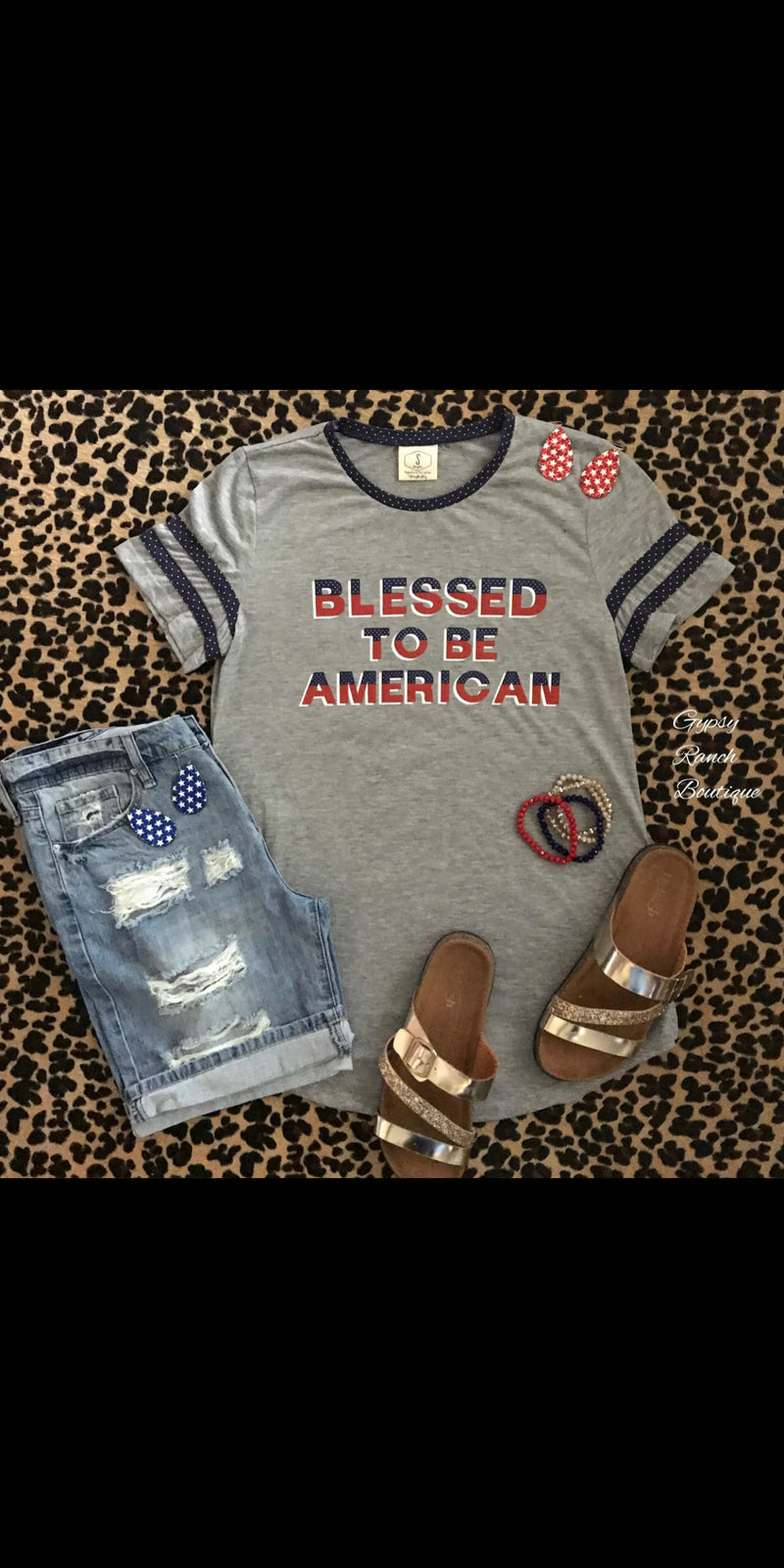Blessed To Be American Top - Also in Plus Size