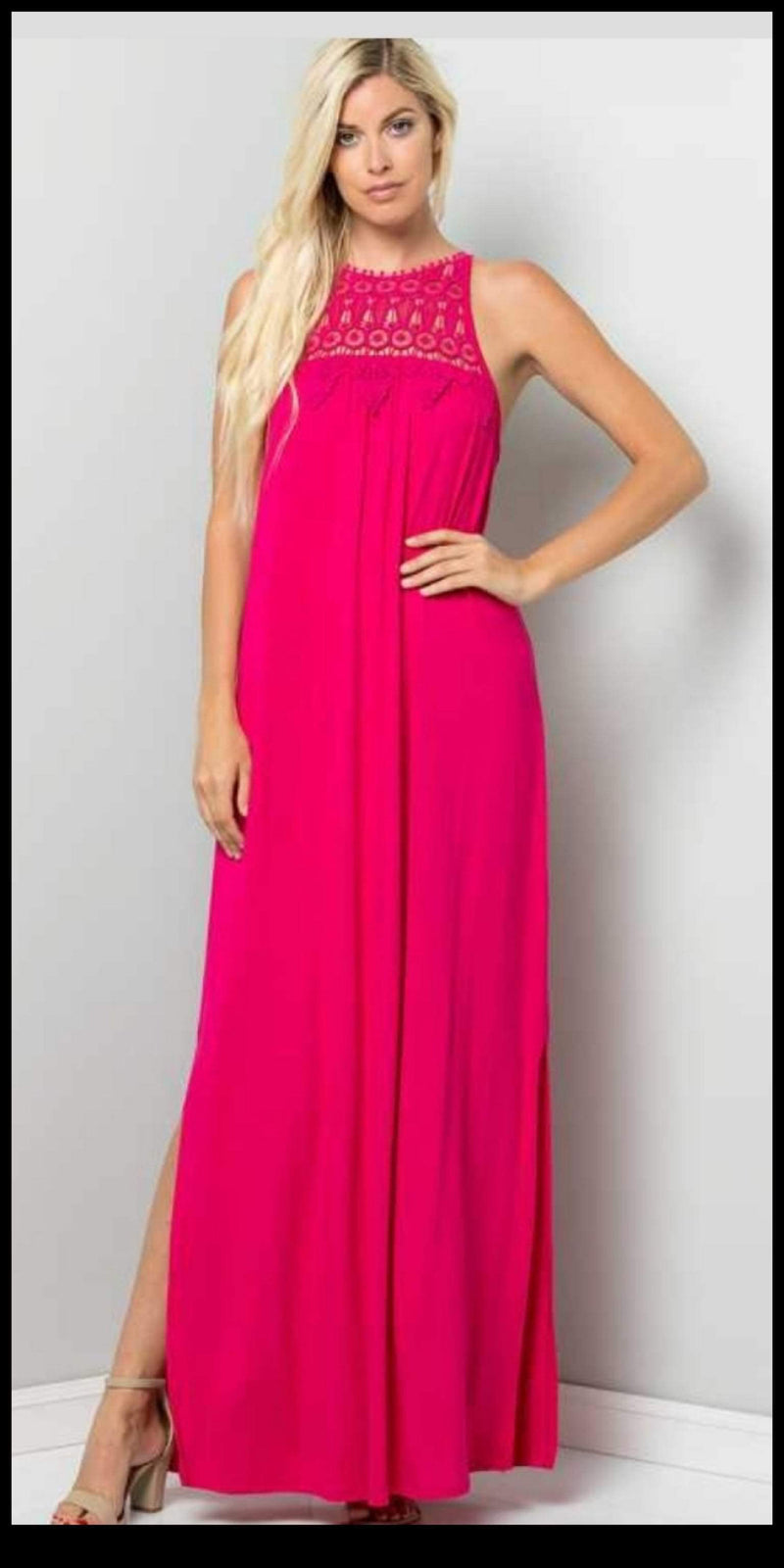 Daytona Hot Pink Maxi Dress