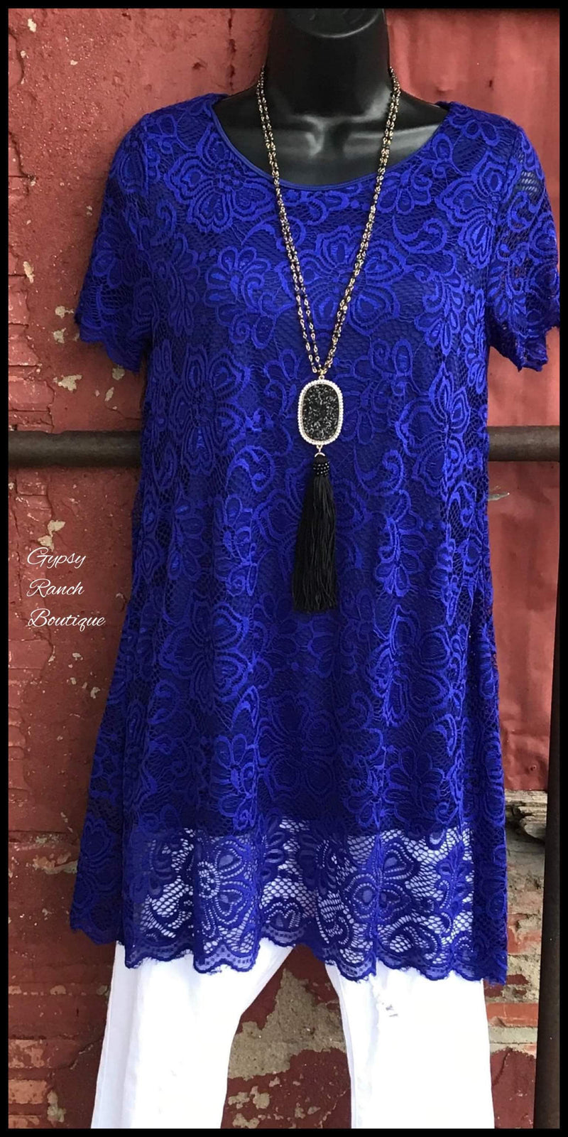 Simple Royalty Lace Tunic Top - Also in Plus Size