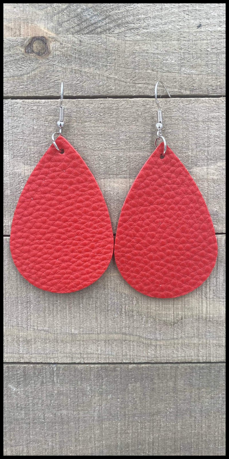 Esme Red Teardrop Earrings