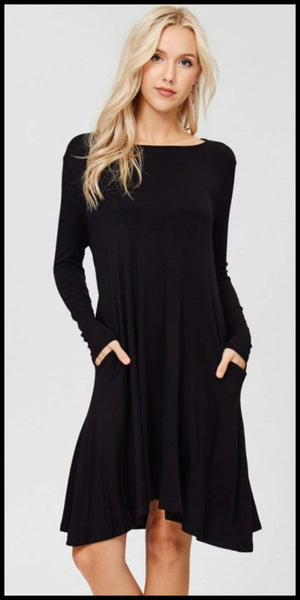 Taylyn Black Tunic Dress