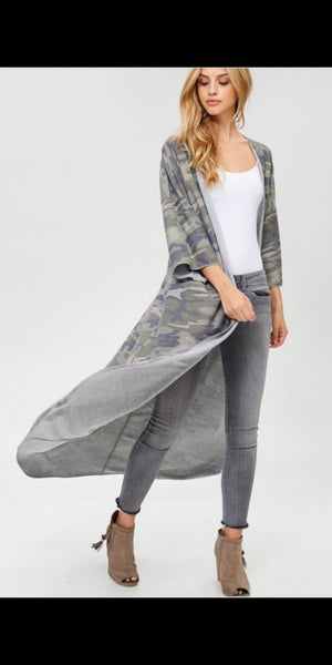 San Marcos Camo Cardigan - Also in Plus Size