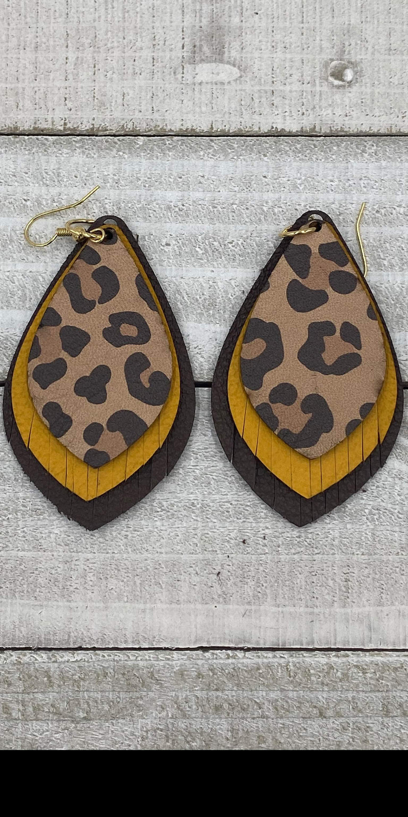 Be Bold Brown Leopard Earrings