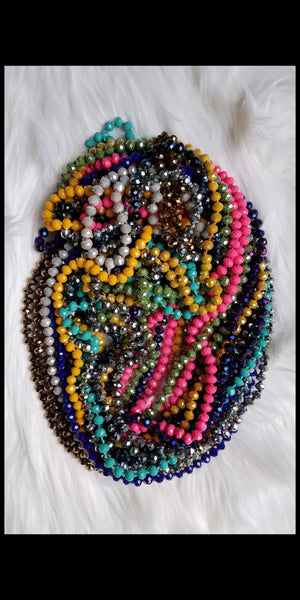 Long 60 inches Beaded Necklace - Several Colors
