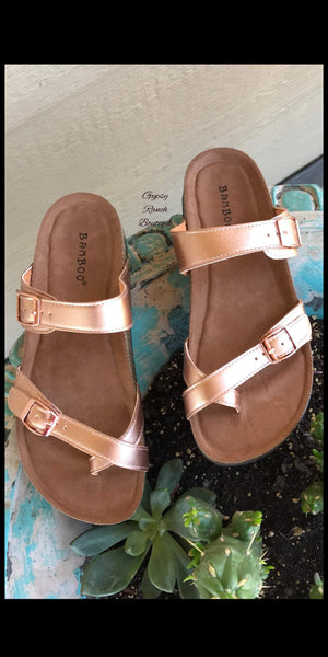 South Beach Rose Gold Sandals