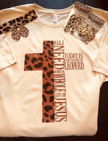 eee7d2b1fa3 All I Need Is Leopard   Jesus Top - Also in Plus Size