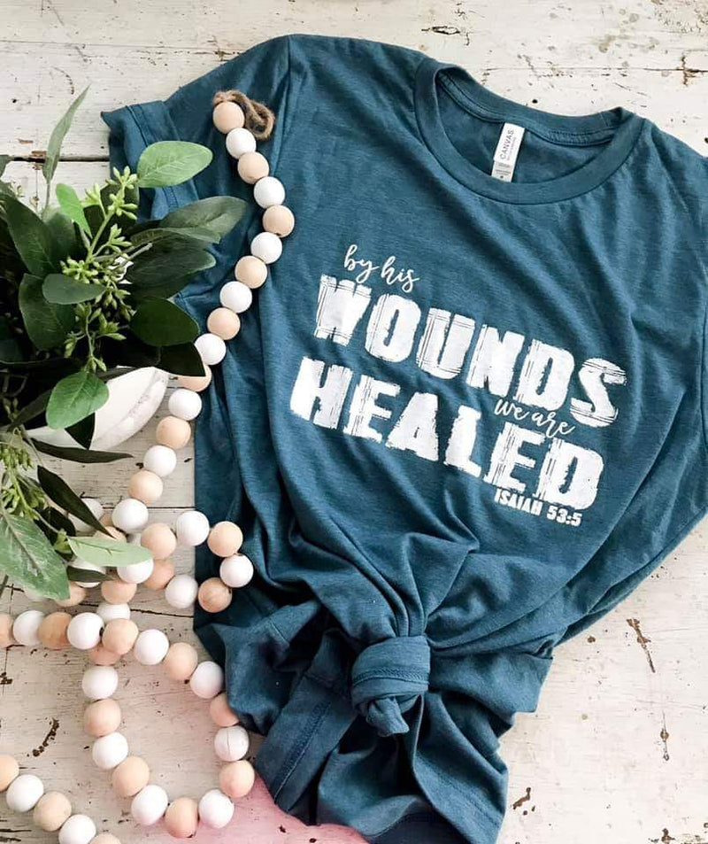 By His Wounds We Are Healed Top - Also in Plus Size