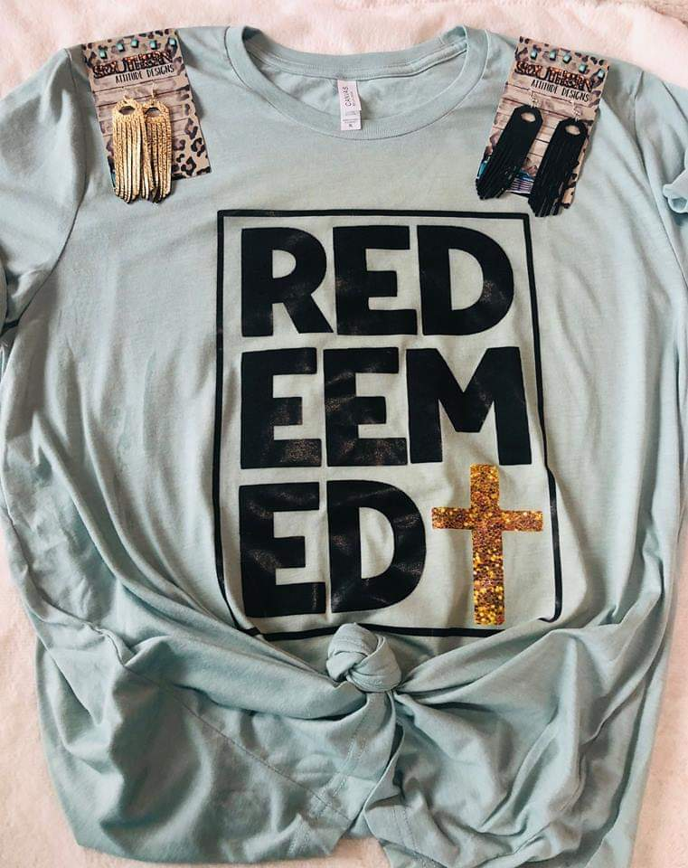 Redeemed Cross Top - Also in Plus Size