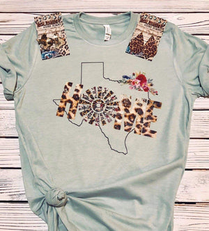 Texas Leopard Home Windmill  Top - Also in Plus Size