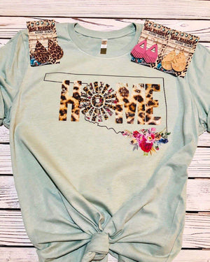 Oklahoma Leopard Home Windmill  Top - Also in Plus Size