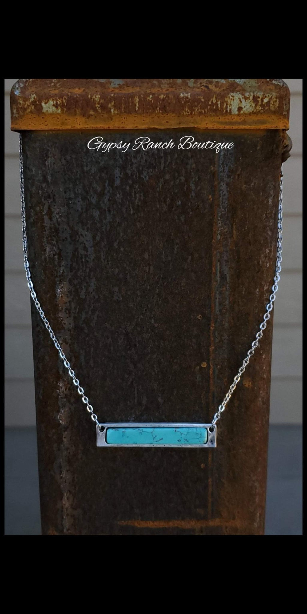Bar T Turquoise Necklace