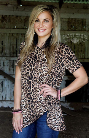 Leopard Knotty Top - Also in Plus Size