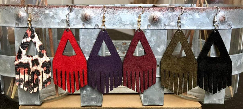 Mazy Short Fringe Earrings - Several Colors