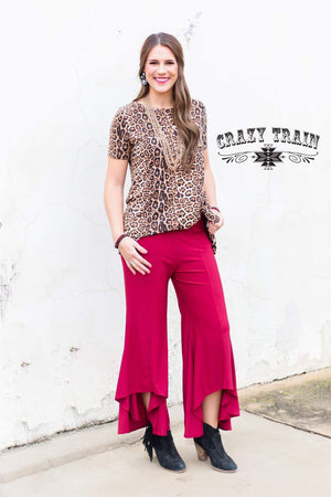 Wine Paltrow Pants - Also in Plus Size