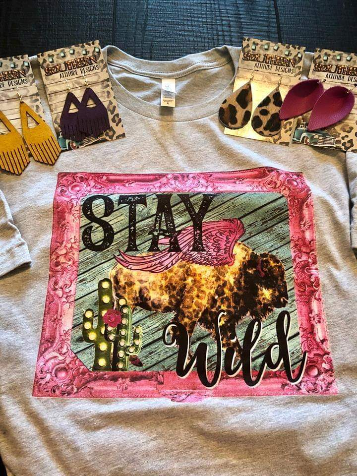 Stay Wild Leopard Cactus Top - Also in Plus Size