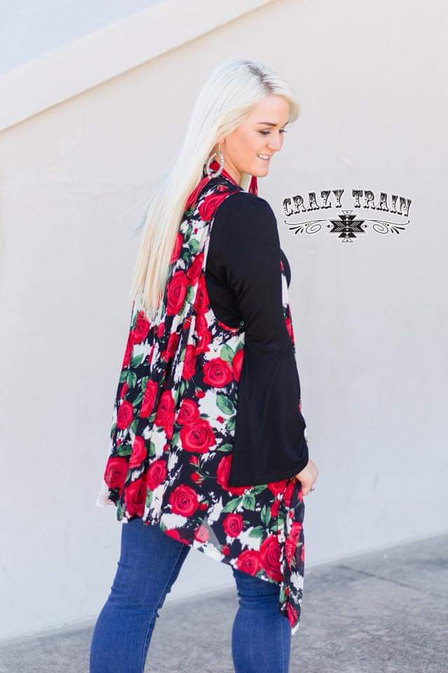 Rose's are Red Vest - Also in Plus Size