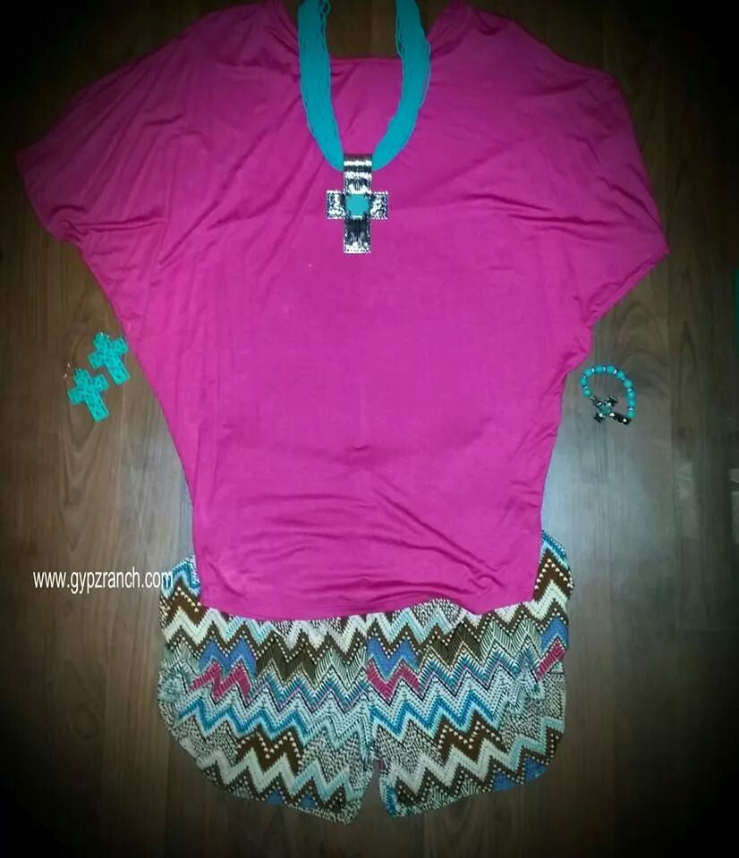 Storm The Beach Chevron Shorts