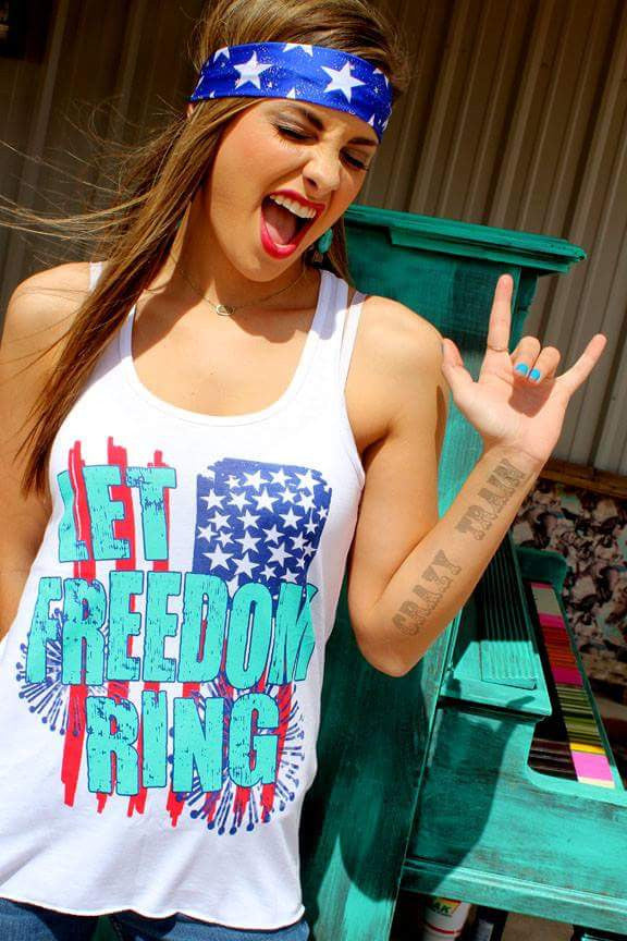 Let Freedom Ring Tank Top - Also in Plus Size