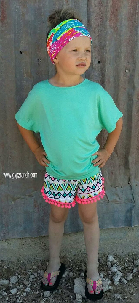 Kids - Solid PIKO Short Sleeve Tunic Top