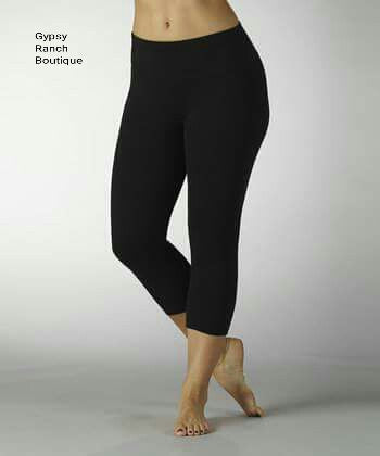 Just Styling Capri Leggings  Several Colors - PLUS Size