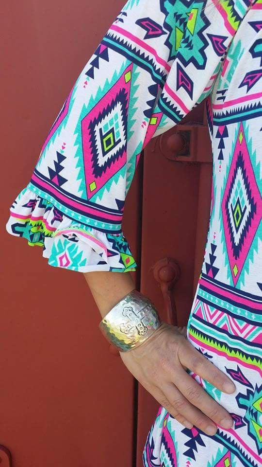Classic Flair Tribal Tunic Top - Also in Plus Size