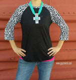 Walk In The Park Tribal Baseball Top - Also in Plus Size