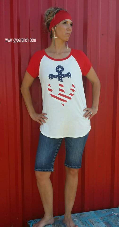 Home  Of The Brave Anchor Top - Also in Plus Size