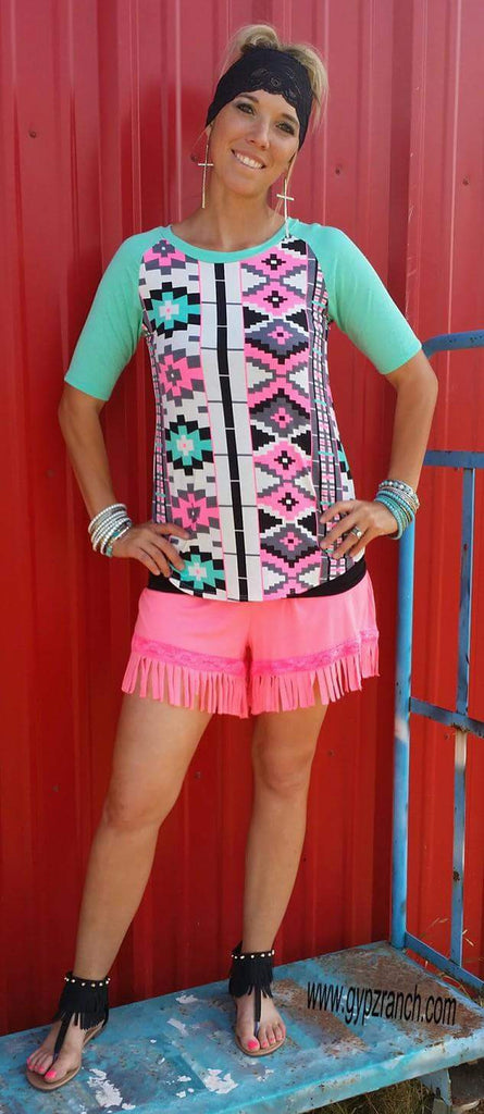 Strike A Pose Fringe Shorts - Several Colors   Also in Plus Size